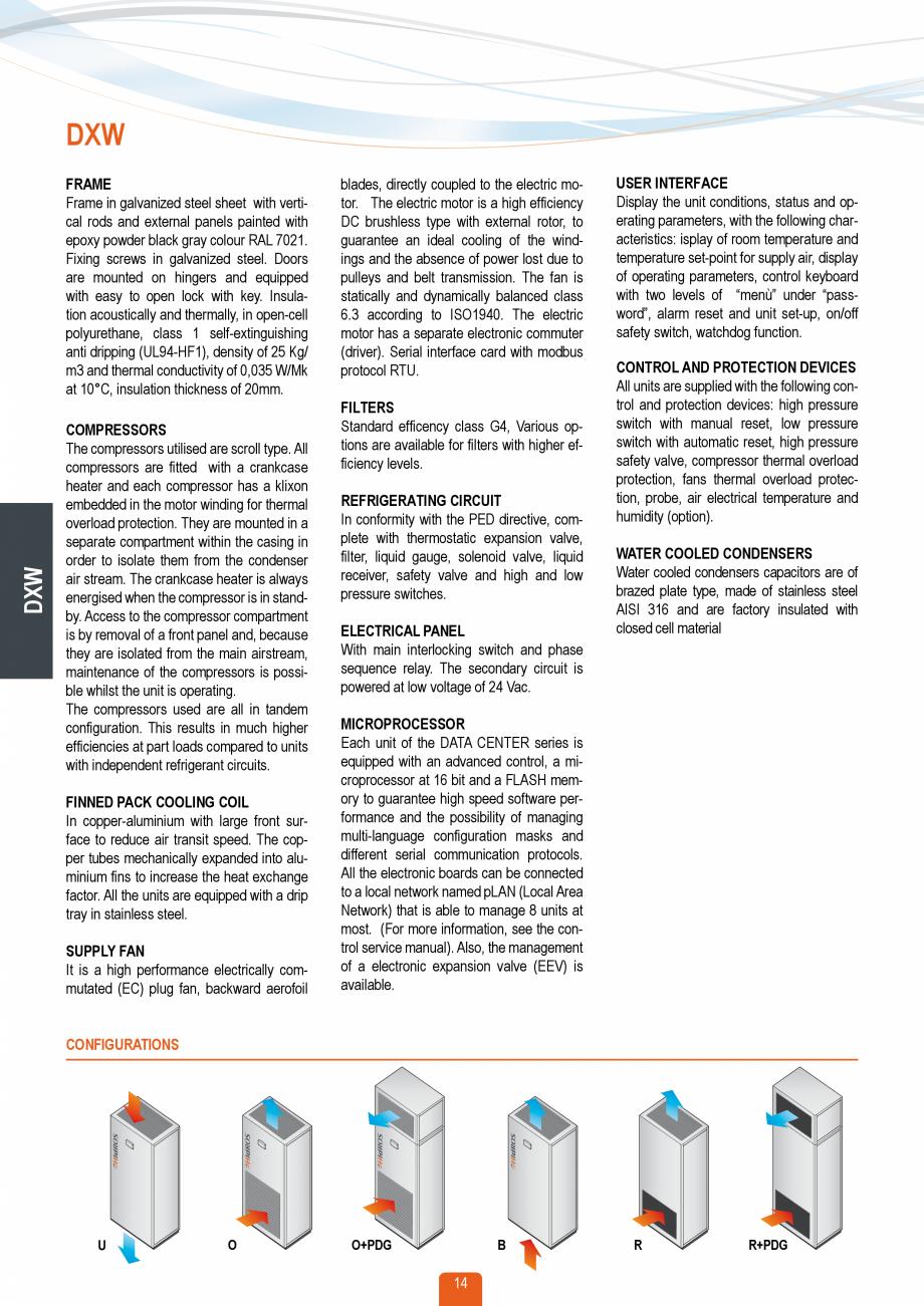 Pagina 13 - Catalog sisteme de climatizare Close Control HACE DXA, DXW Catalog, brosura Engleza r is...