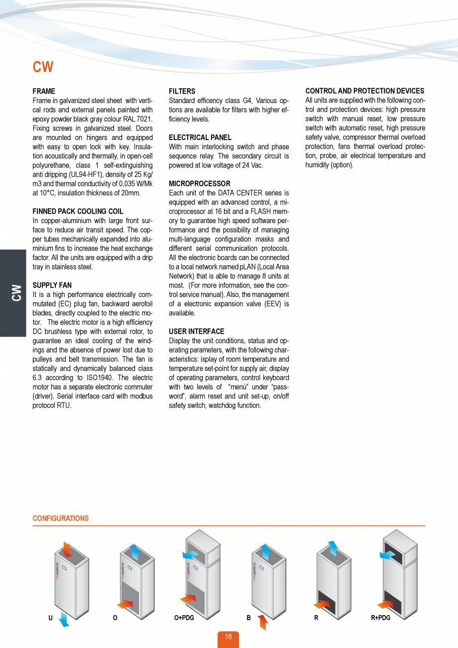 Pagina 17 - Catalog sisteme de climatizare Close Control HACE DXA, DXW Catalog, brosura Engleza ges ...