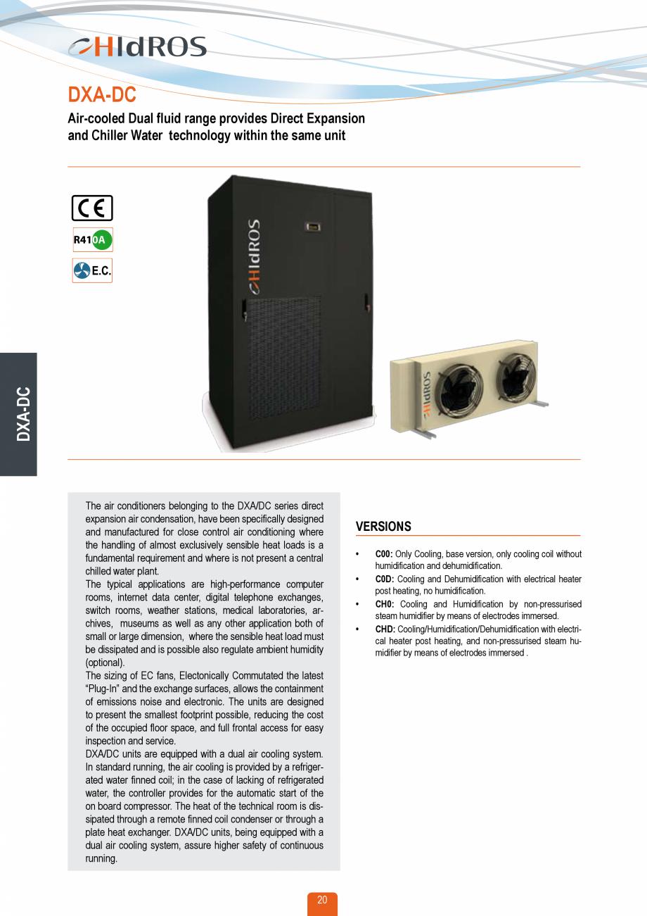 Pagina 19 - Catalog sisteme de climatizare Close Control HACE DXA, DXW Catalog, brosura Engleza...