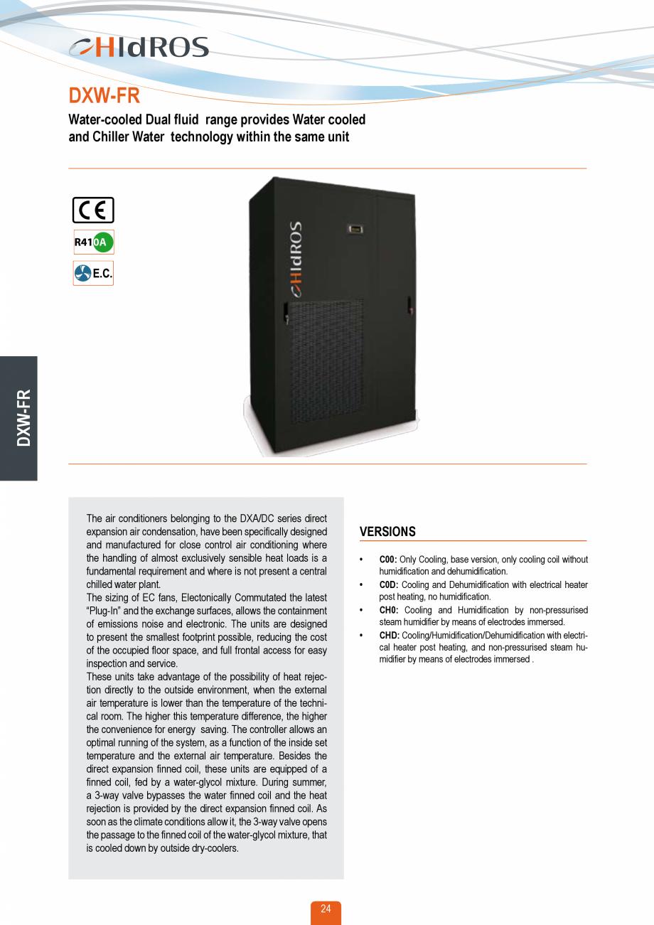 Pagina 23 - Catalog sisteme de climatizare Close Control HACE DXA, DXW Catalog, brosura Engleza...