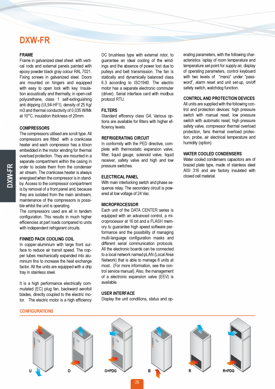 Pagina 25 - Catalog sisteme de climatizare Close Control HACE DXA, DXW Catalog, brosura Engleza of 0...
