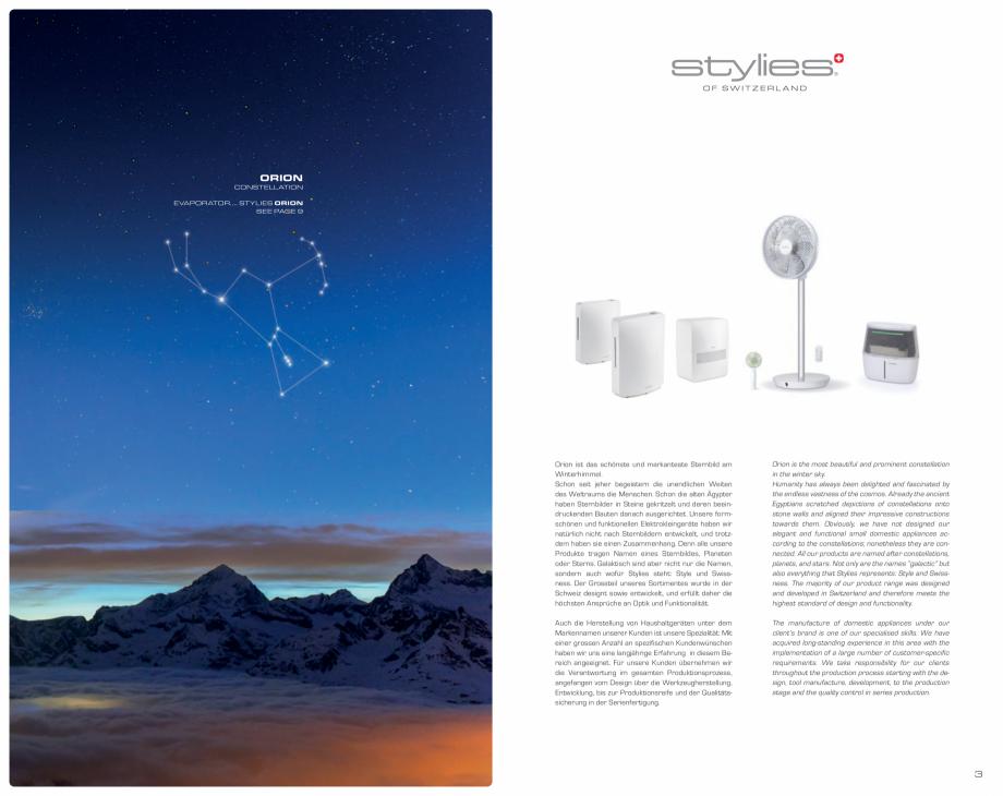 Pagina 2 - Umidificatoare pentru aer  STYLIES Catalog, brosura Engleza, Germana lighted and...