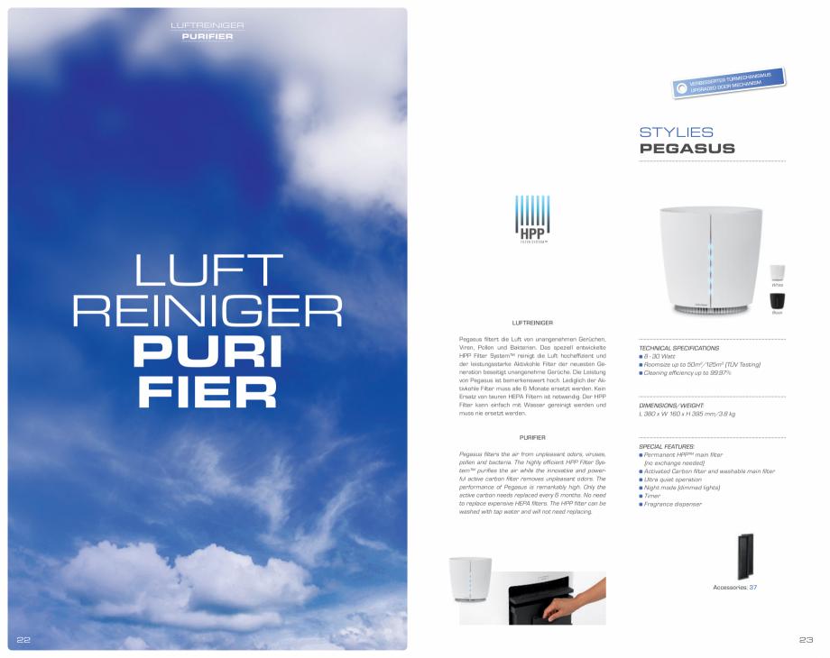 Pagina 12 - Umidificatoare pentru aer  STYLIES Catalog, brosura Engleza, Germana ay Timer 1 - 12 h...
