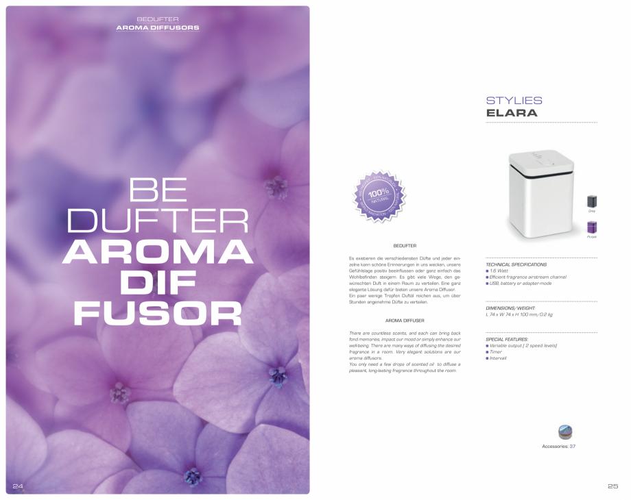 Pagina 13 - Umidificatoare pentru aer  STYLIES Catalog, brosura Engleza, Germana  ounces) ...