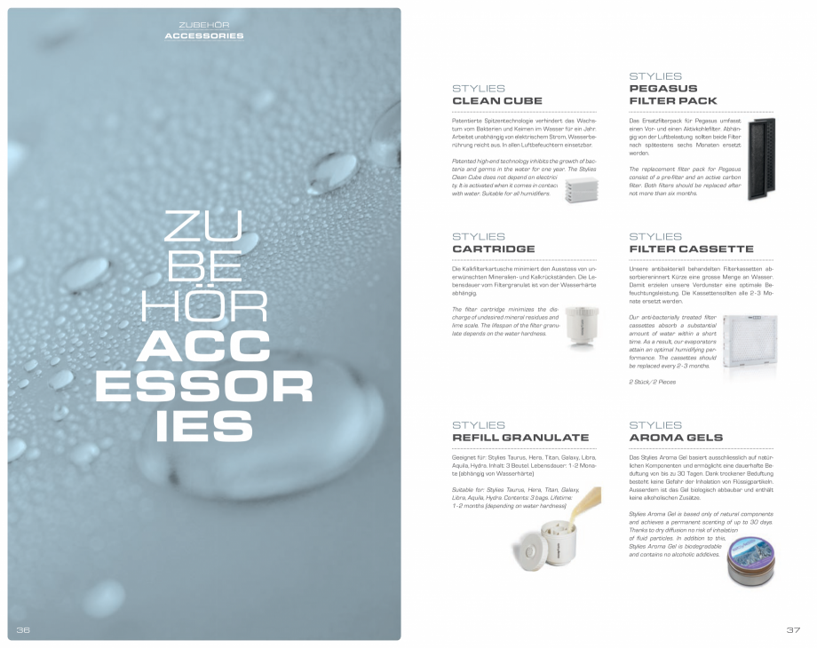 Pagina 19 - Umidificatoare pentru aer  STYLIES Catalog, brosura Engleza, Germana  das Klimagerät...