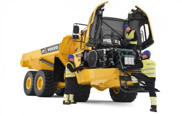 Basculante si camioane articulate, dumpere Utilajele Volvo sunt diferite. Sunt concepute, construite si deservite intr-un mod diferit. Aceasta diferenta vine dintr-o traditie tehnica de peste 170 de ani.  O traditie care inseamna sa ne gandim in primul rand la oamenii care  folosesc efectiv aceste utilaje. Basculante, camioane: camioane articulate Volvo: A25E, A30E, A35E, A40E, A35EFS, A40EFS; camioane rigide Perlini: DP255, DP405, DP605, DP705 WD, DP905, DP70.
