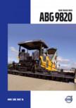 Finisoare de asfalt pe senile Volvo - ABG9820 VOLVO