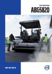 Finisoare de asfalt pe senile Volvo - ABG5820 VOLVO