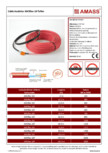 Cablu incalzitor AMASS - AMSflex-18-Teflon