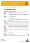 Adeziv / sigilant butilic pentru constructii SIKA - Sika® BlackSeal BT