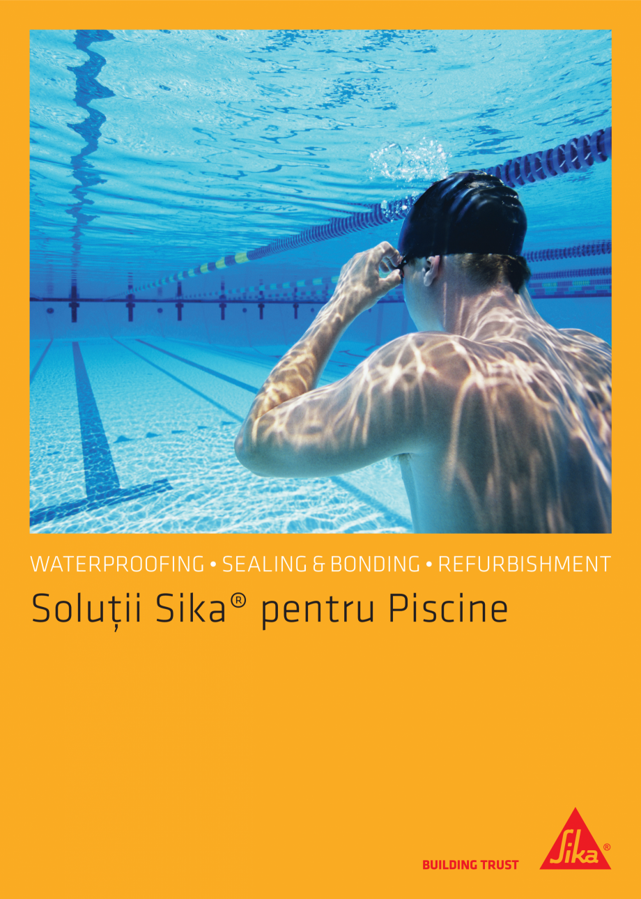 Catalog brosura solutii sika pentru piscine sika romania for Catalogue piscine