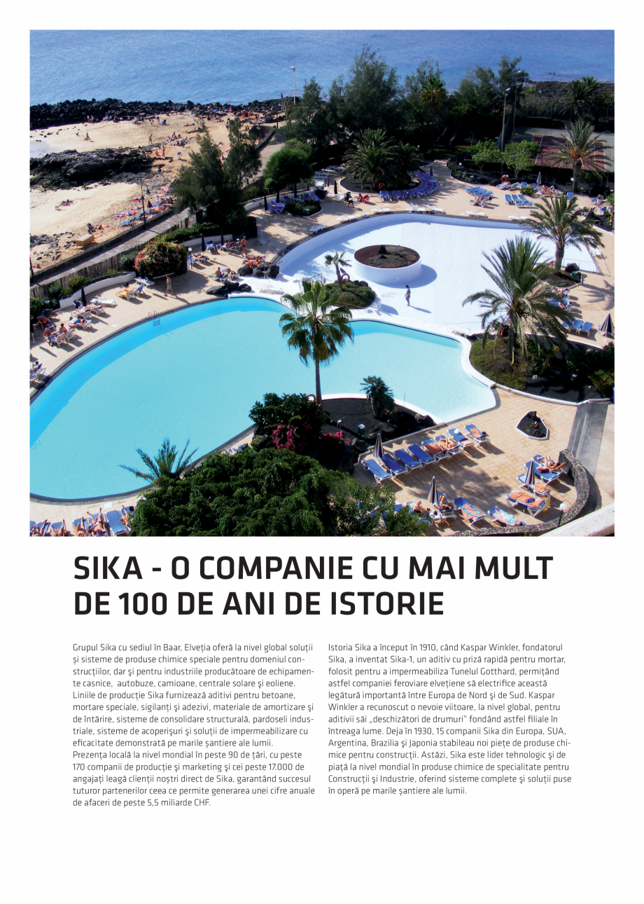 Pagina 2 - Solutii Sika pentru piscine  Catalog, brosura Romana faceri de peste 5,5 miliarde CHF. ...