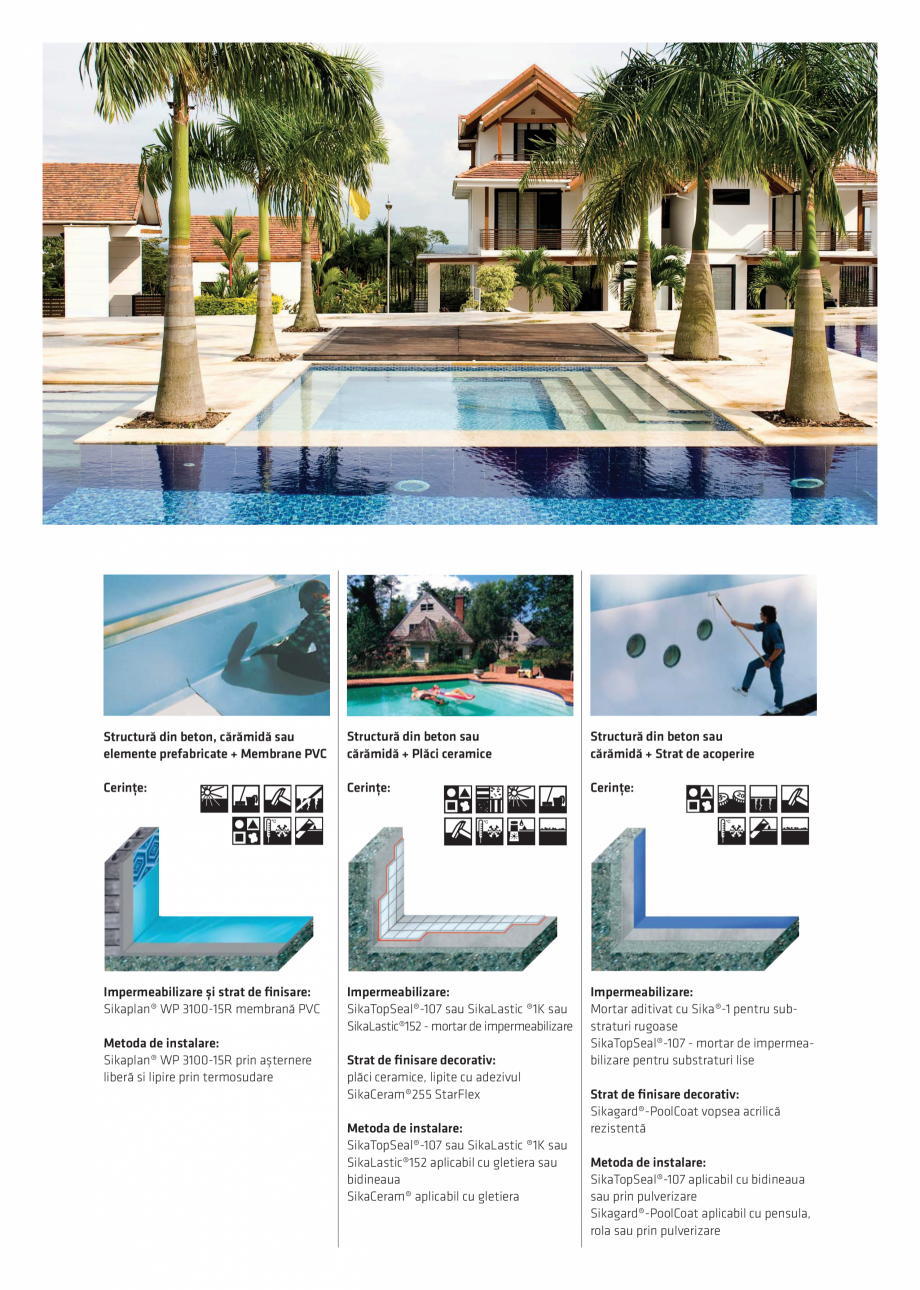 Pagina 4 - Solutii Sika pentru piscine  Catalog, brosura Romana e nu este de obicei suficient de...