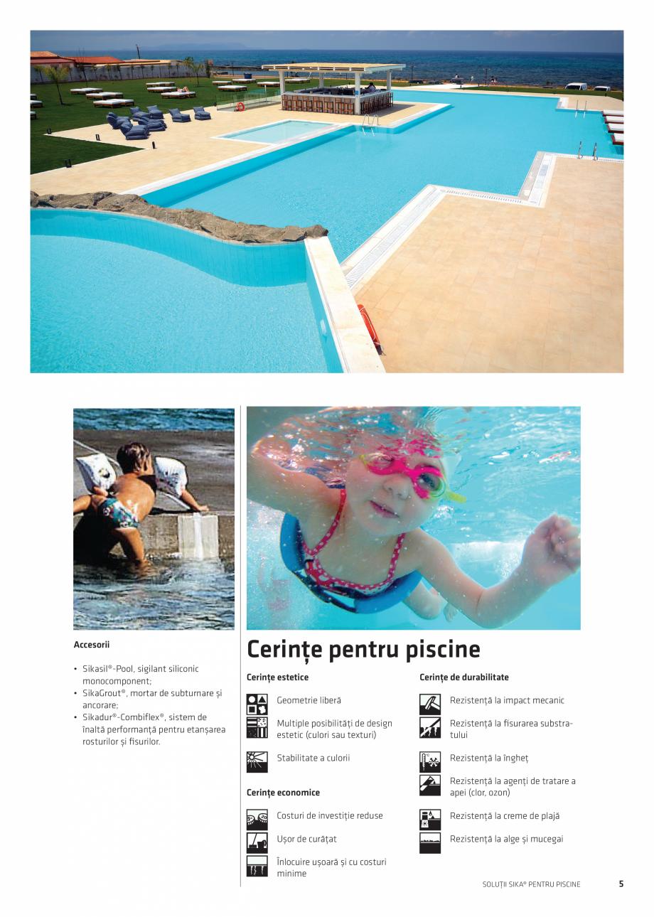 Pagina 5 - Solutii Sika pentru piscine  Catalog, brosura Romana ură din beton sau cărămidă +...