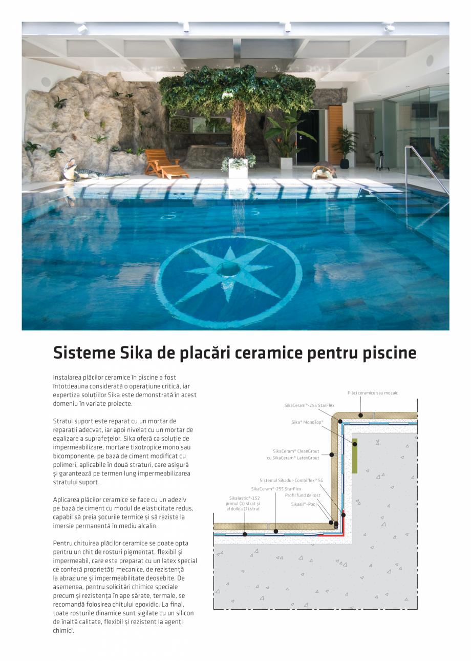 Pagina 6 - Solutii Sika pentru piscine  Catalog, brosura Romana sil®-Pool, sigilant siliconic...