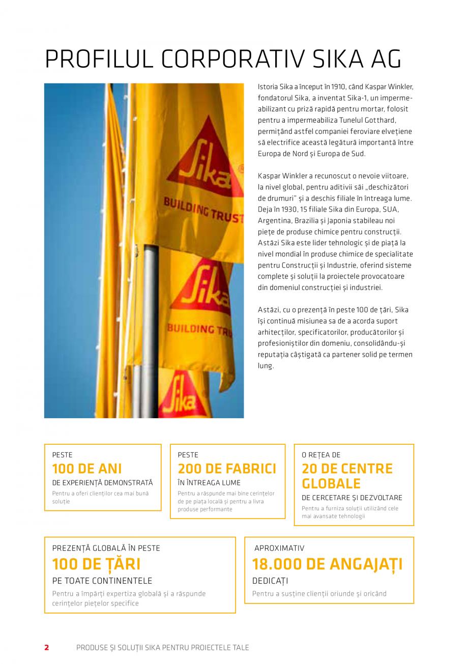 Pagina 2 - Produse si solutii Sika pentru proiectele tale  Catalog, brosura Romana țări, Sika...
