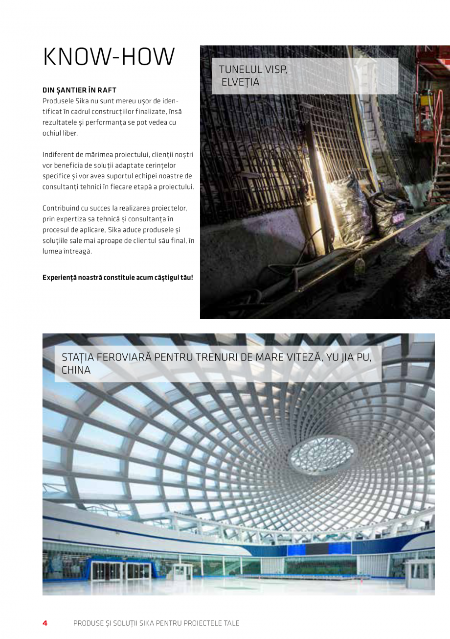 Pagina 4 - Produse si solutii Sika pentru proiectele tale  Catalog, brosura Romana NG / ACOPERIŞURI...
