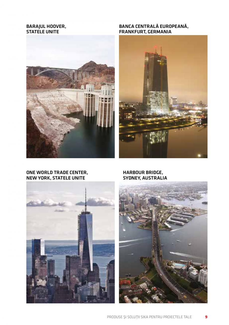 Pagina 9 - Produse si solutii Sika pentru proiectele tale  Catalog, brosura Romana P........... 48...