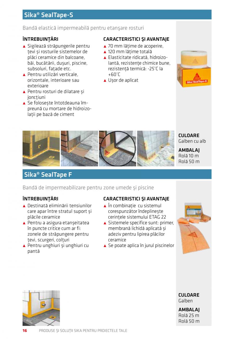 Pagina 16 - Produse si solutii Sika pentru proiectele tale  Catalog, brosura Romana de apă, sisteme...