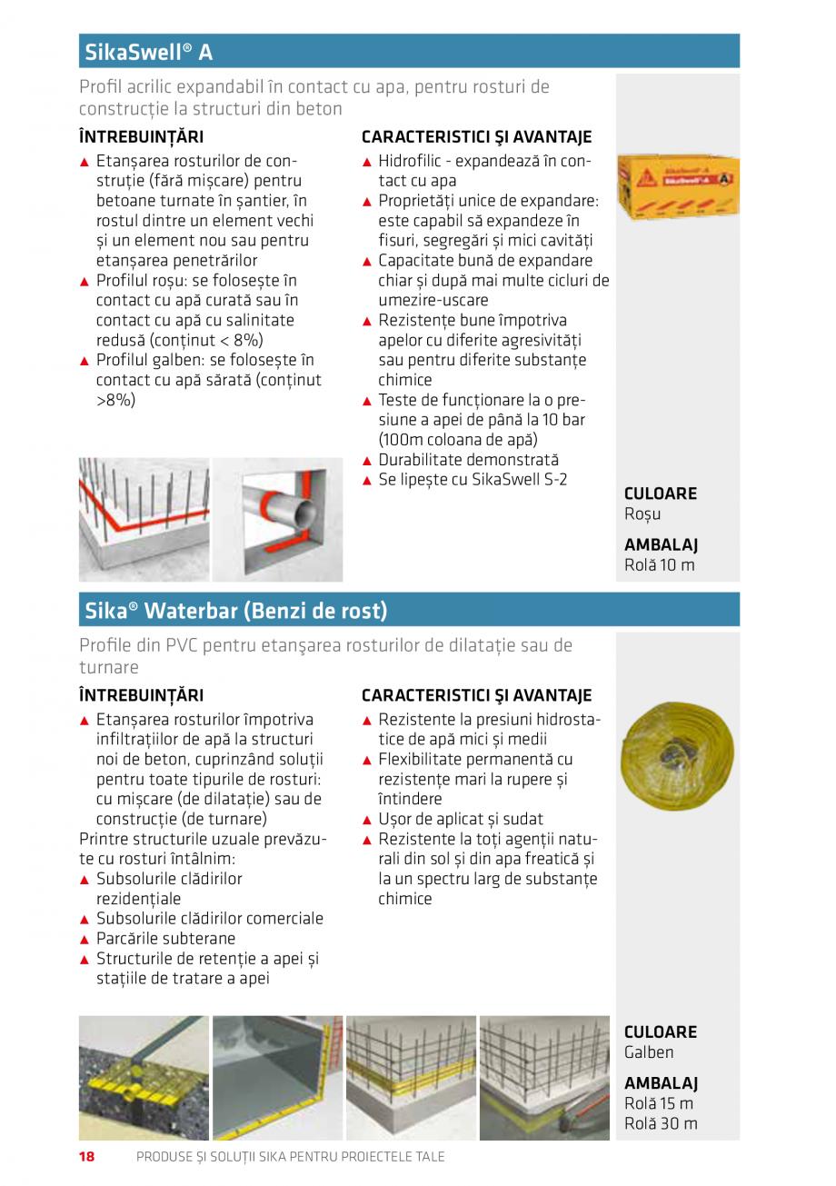 Pagina 18 - Produse si solutii Sika pentru proiectele tale  Catalog, brosura Romana ana își...