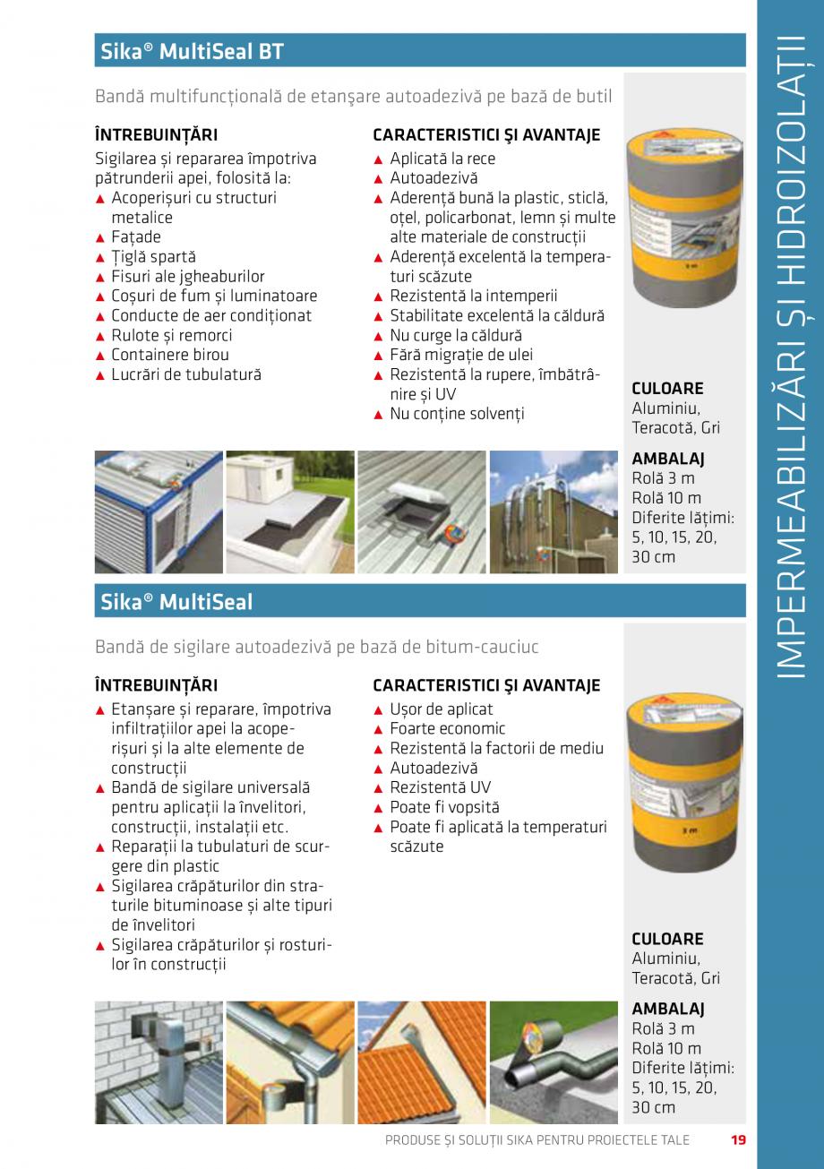 Pagina 19 - Produse si solutii Sika pentru proiectele tale  Catalog, brosura Romana abraziune ˹˹...