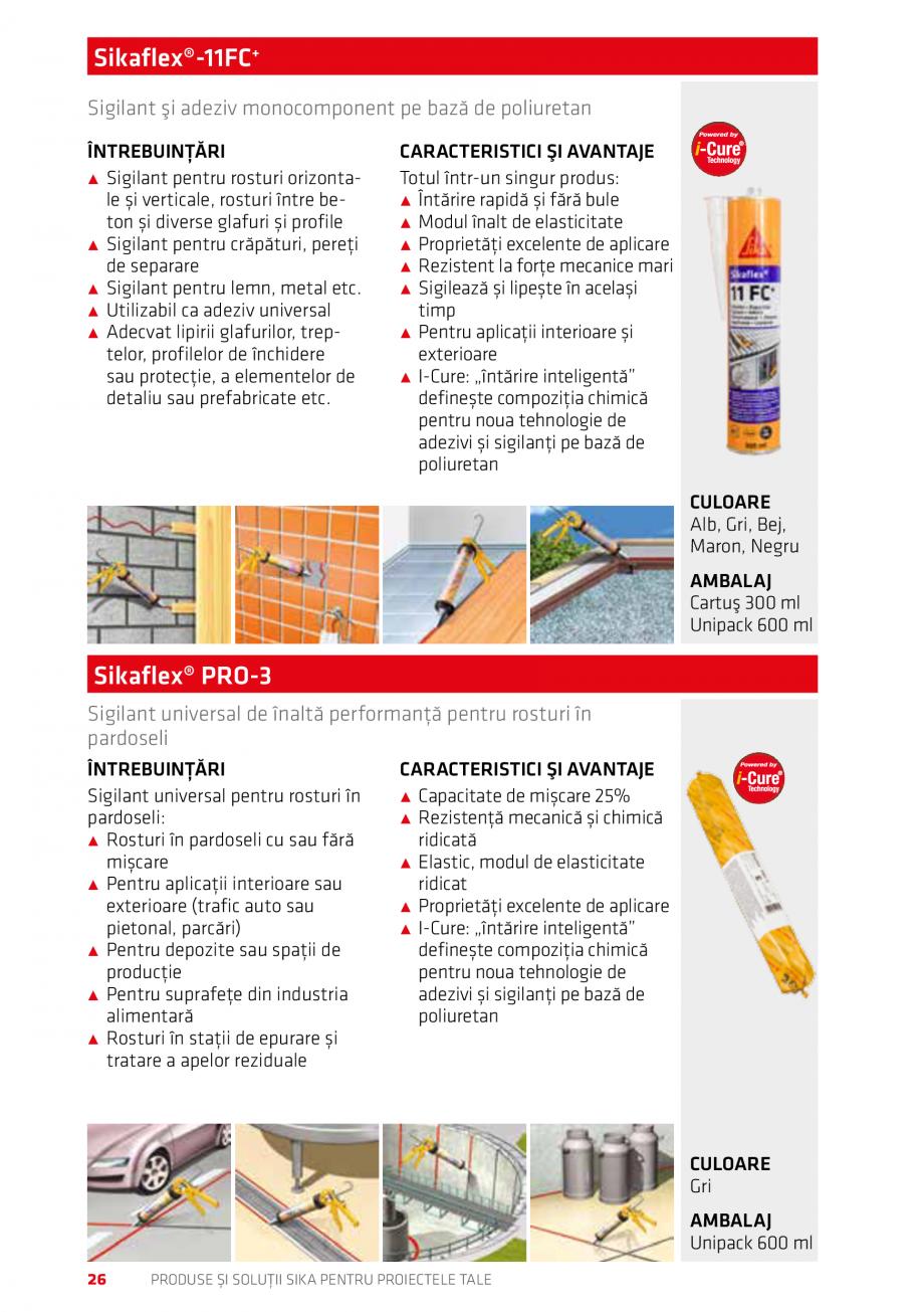 Pagina 26 - Produse si solutii Sika pentru proiectele tale  Catalog, brosura Romana tact cu apa ˹˹...
