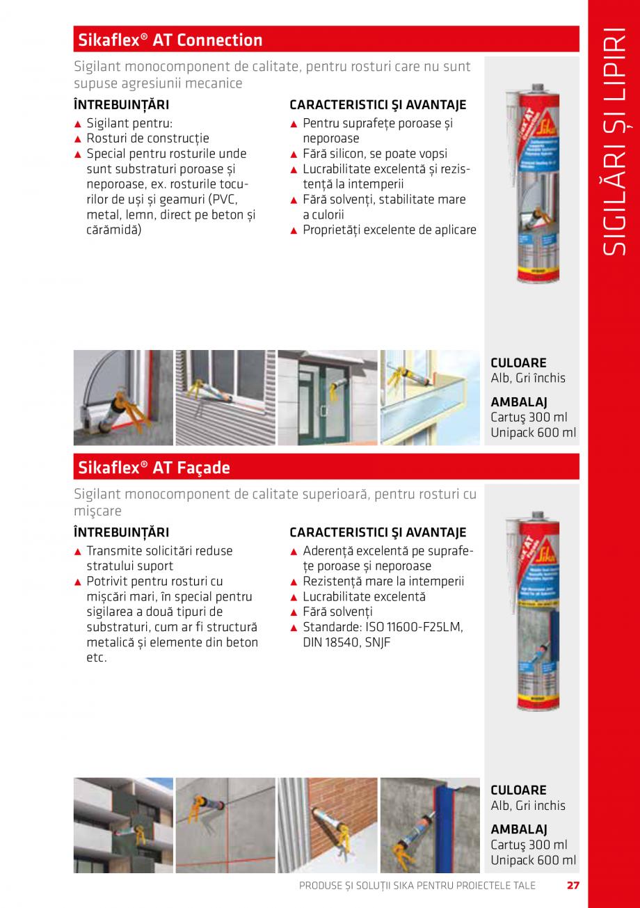 Pagina 27 - Produse si solutii Sika pentru proiectele tale  Catalog, brosura Romana ALAJ Rolă 10 m ...