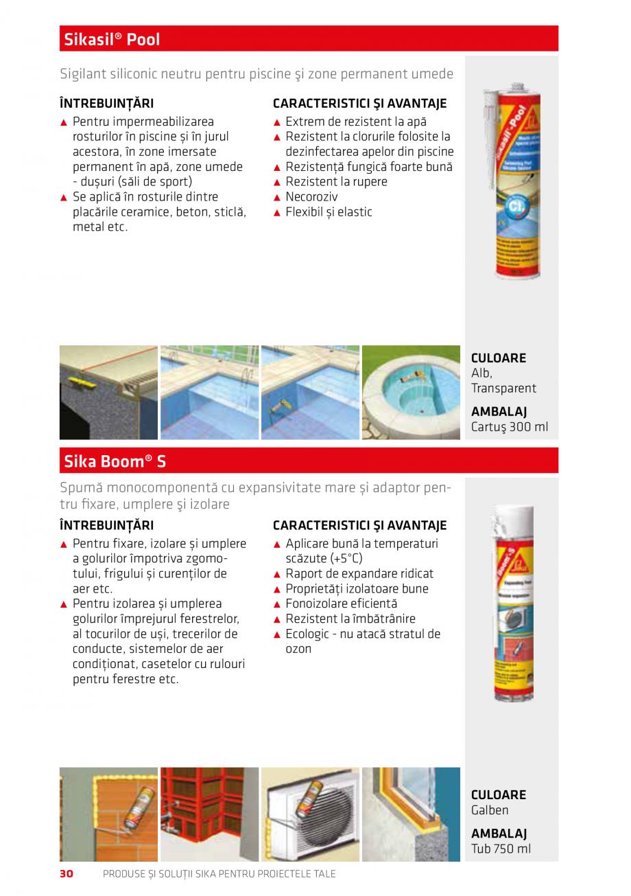 Pagina 30 - Produse si solutii Sika pentru proiectele tale  Catalog, brosura Romana tentă la rupere...