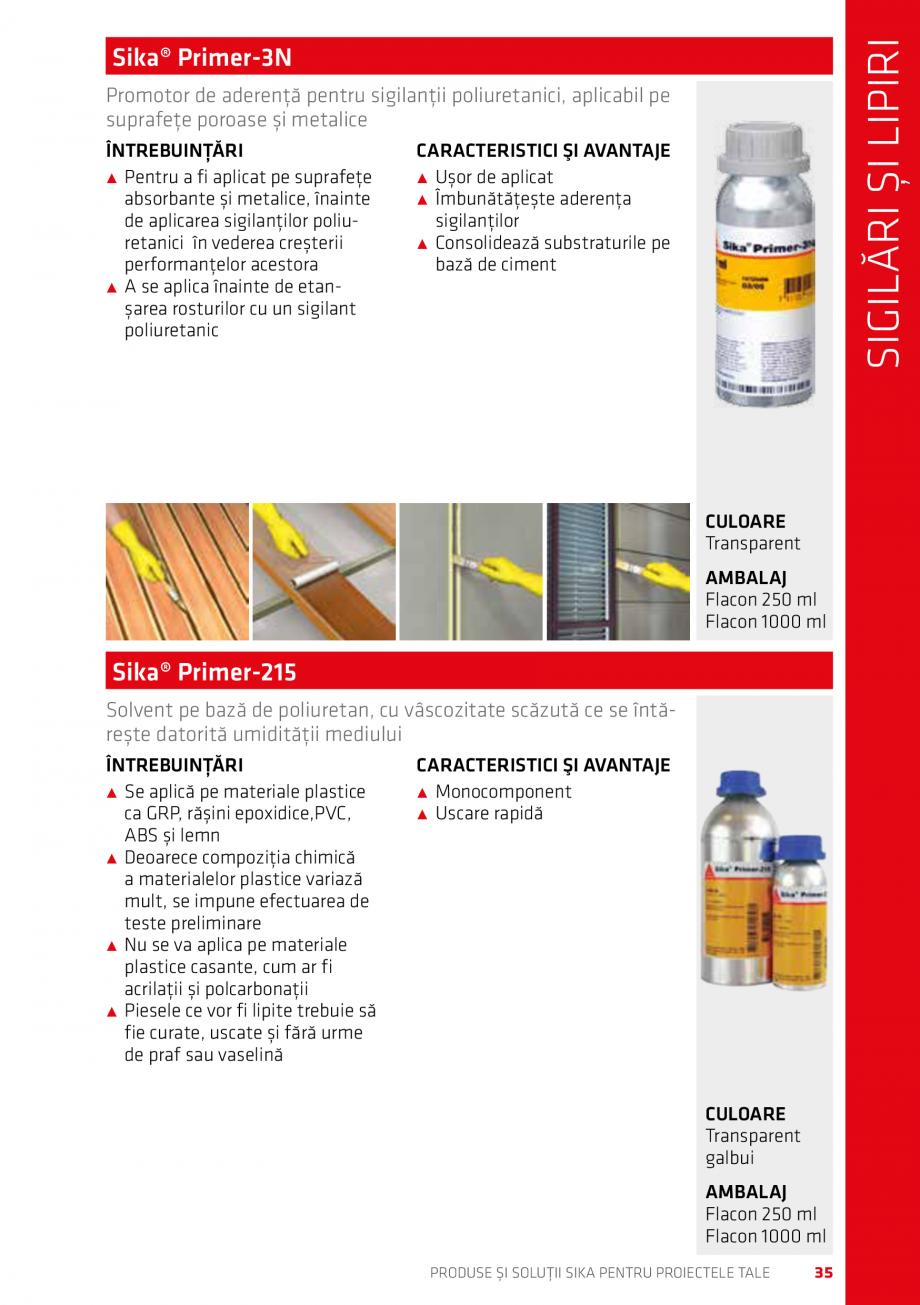 Pagina 35 - Produse si solutii Sika pentru proiectele tale  Catalog, brosura Romana sau a umezelii...