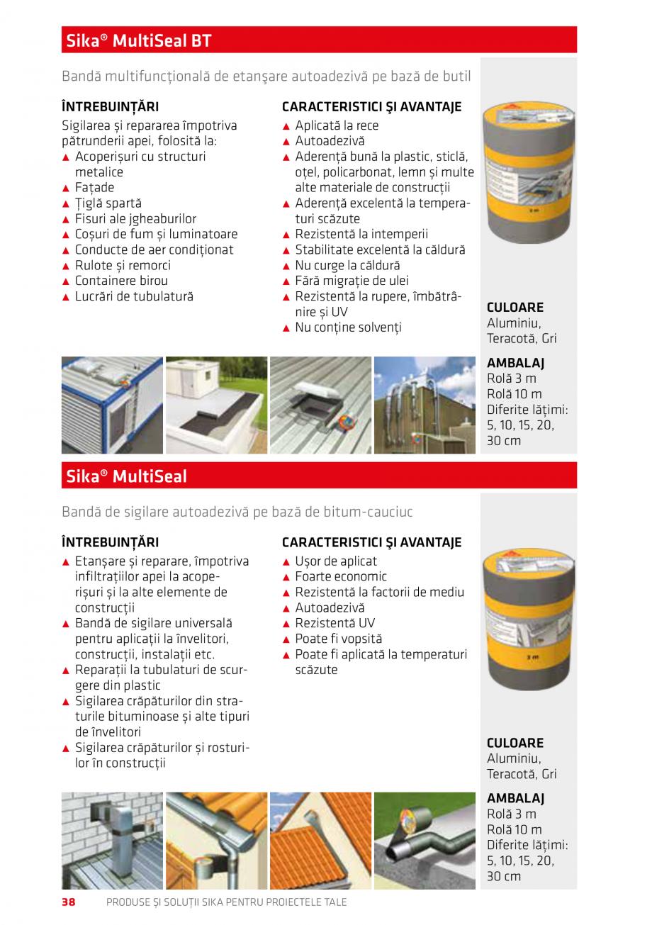 Pagina 38 - Produse si solutii Sika pentru proiectele tale  Catalog, brosura Romana irectă a...
