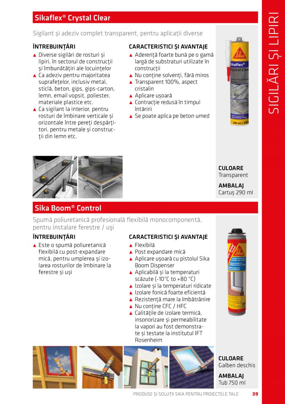 Pagina 39 - Produse si solutii Sika pentru proiectele tale  Catalog, brosura Romana m®-400 Fire.......