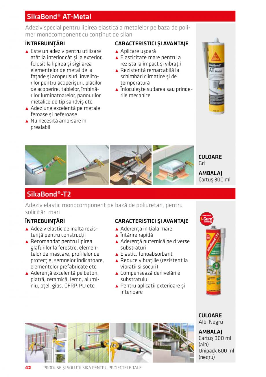 Pagina 42 - Produse si solutii Sika pentru proiectele tale  Catalog, brosura Romana t pentru rosturi...