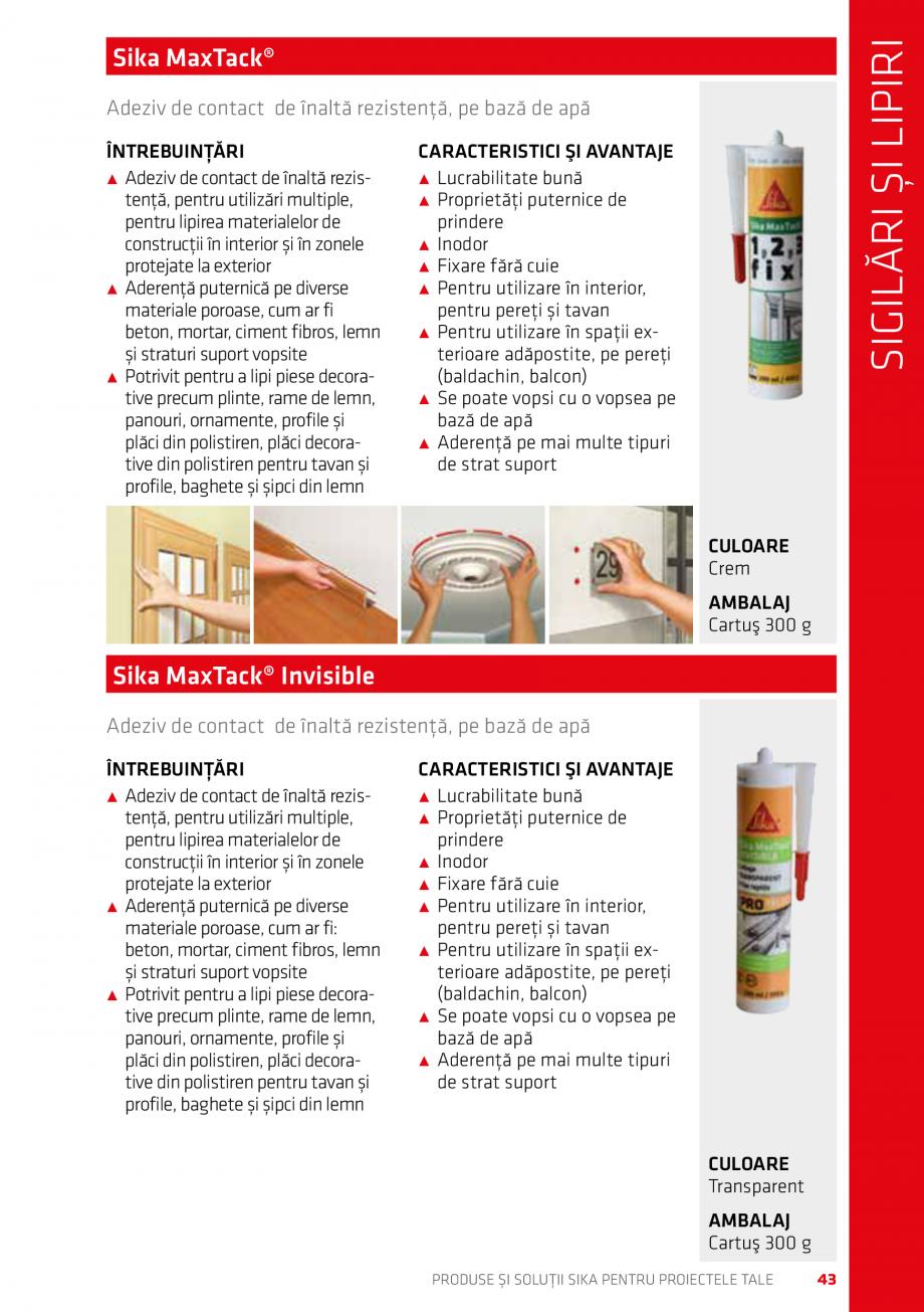 Pagina 43 - Produse si solutii Sika pentru proiectele tale  Catalog, brosura Romana ant universal...