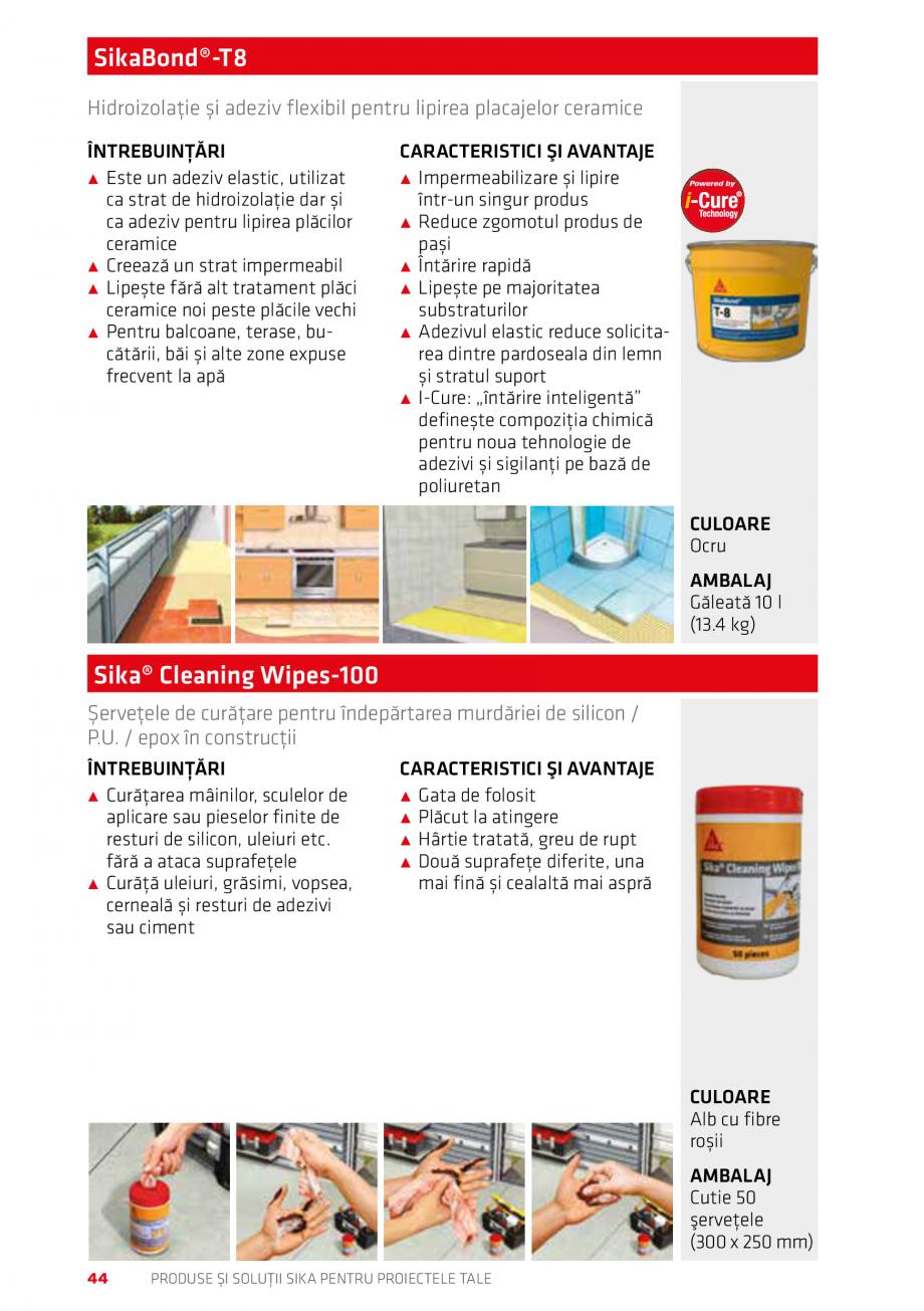 Pagina 44 - Produse si solutii Sika pentru proiectele tale  Catalog, brosura Romana e ˹˹ Special...
