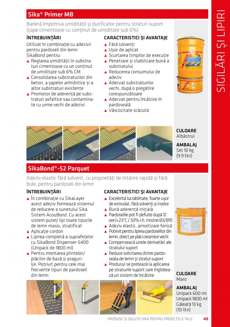 Pagina 45 - Produse si solutii Sika pentru proiectele tale  Catalog, brosura Romana ă solvenţi...