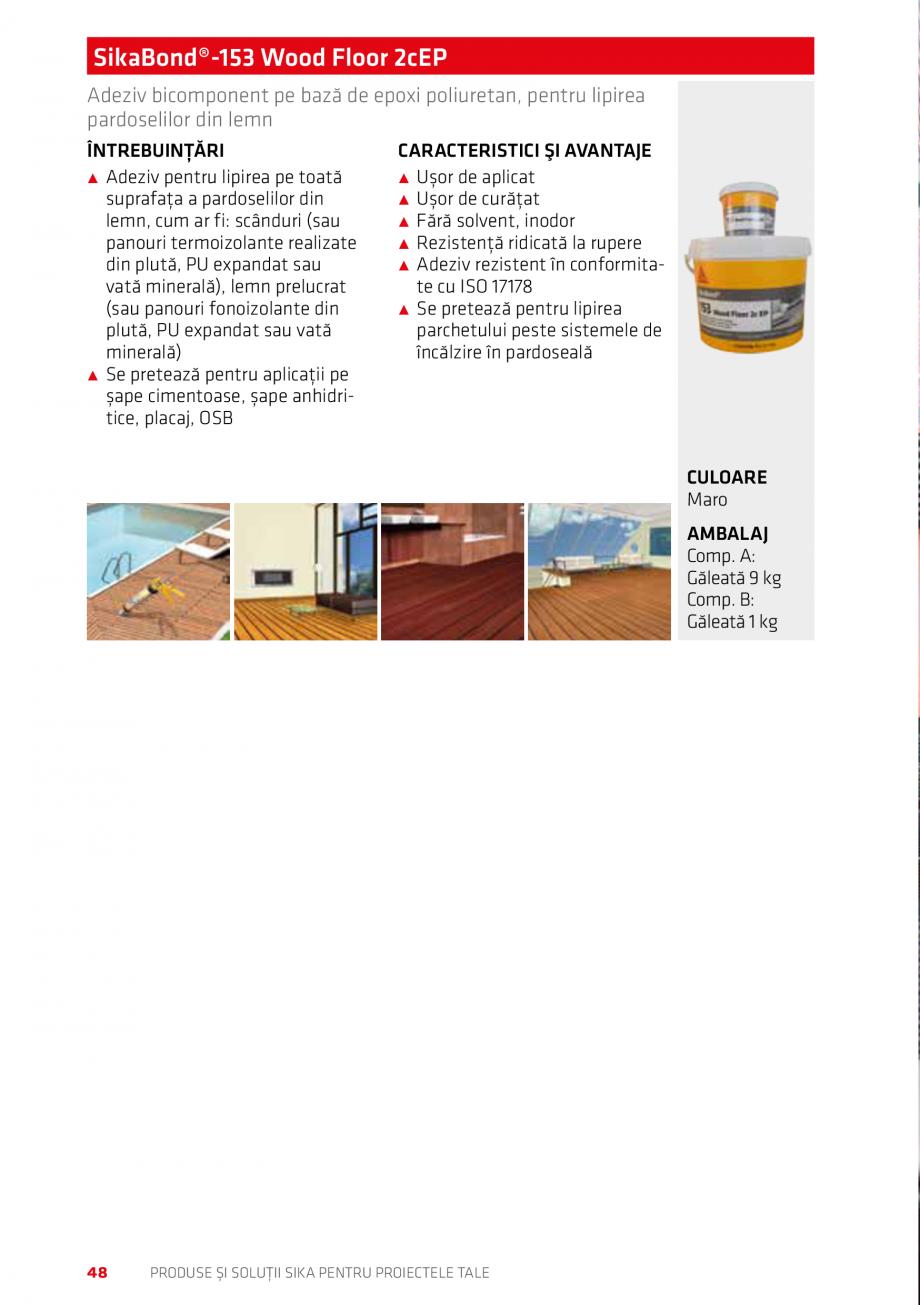 Pagina 48 - Produse si solutii Sika pentru proiectele tale  Catalog, brosura Romana r în piscine...