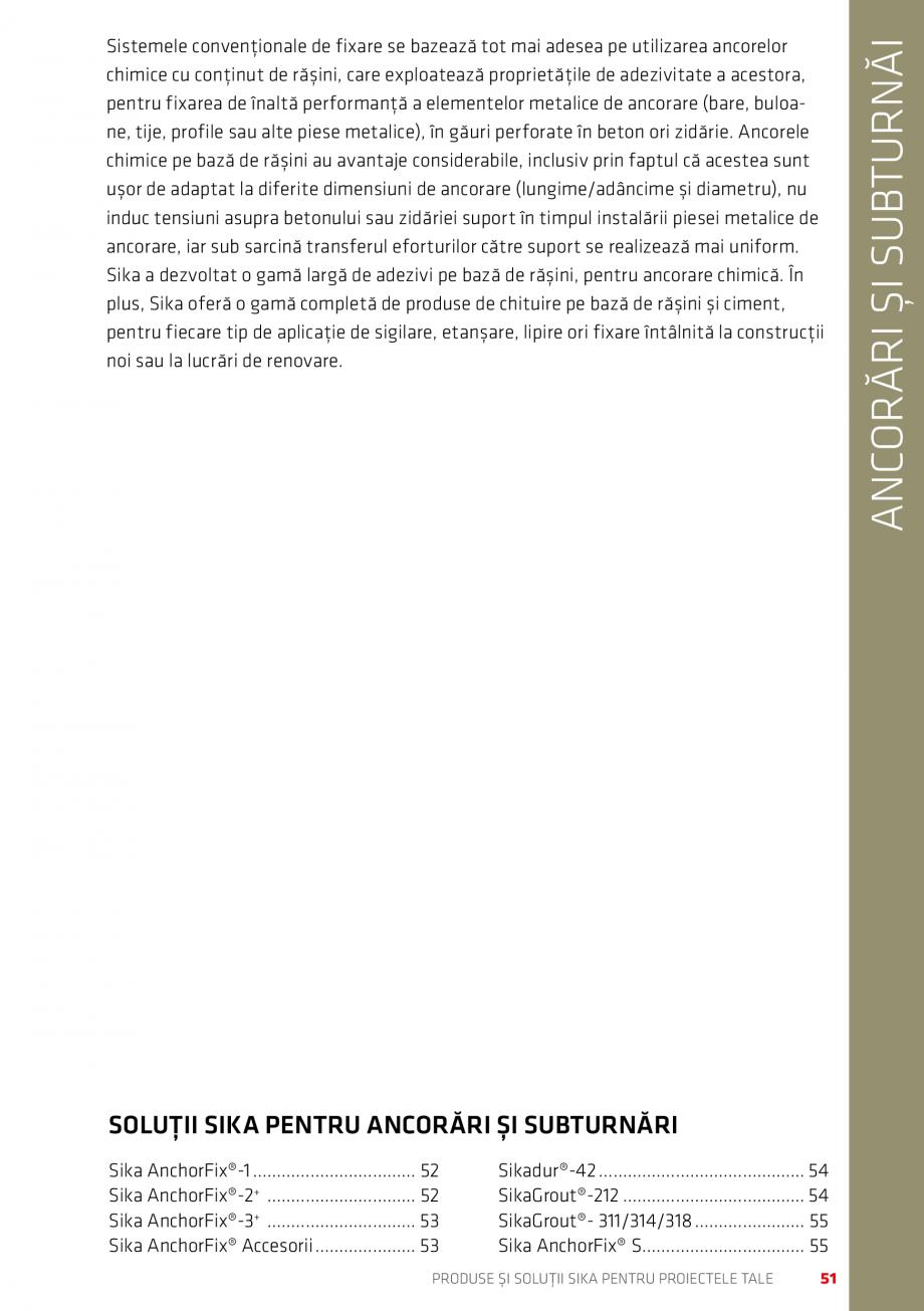 Pagina 51 - Produse si solutii Sika pentru proiectele tale  Catalog, brosura Romana e aplicare Sika ...