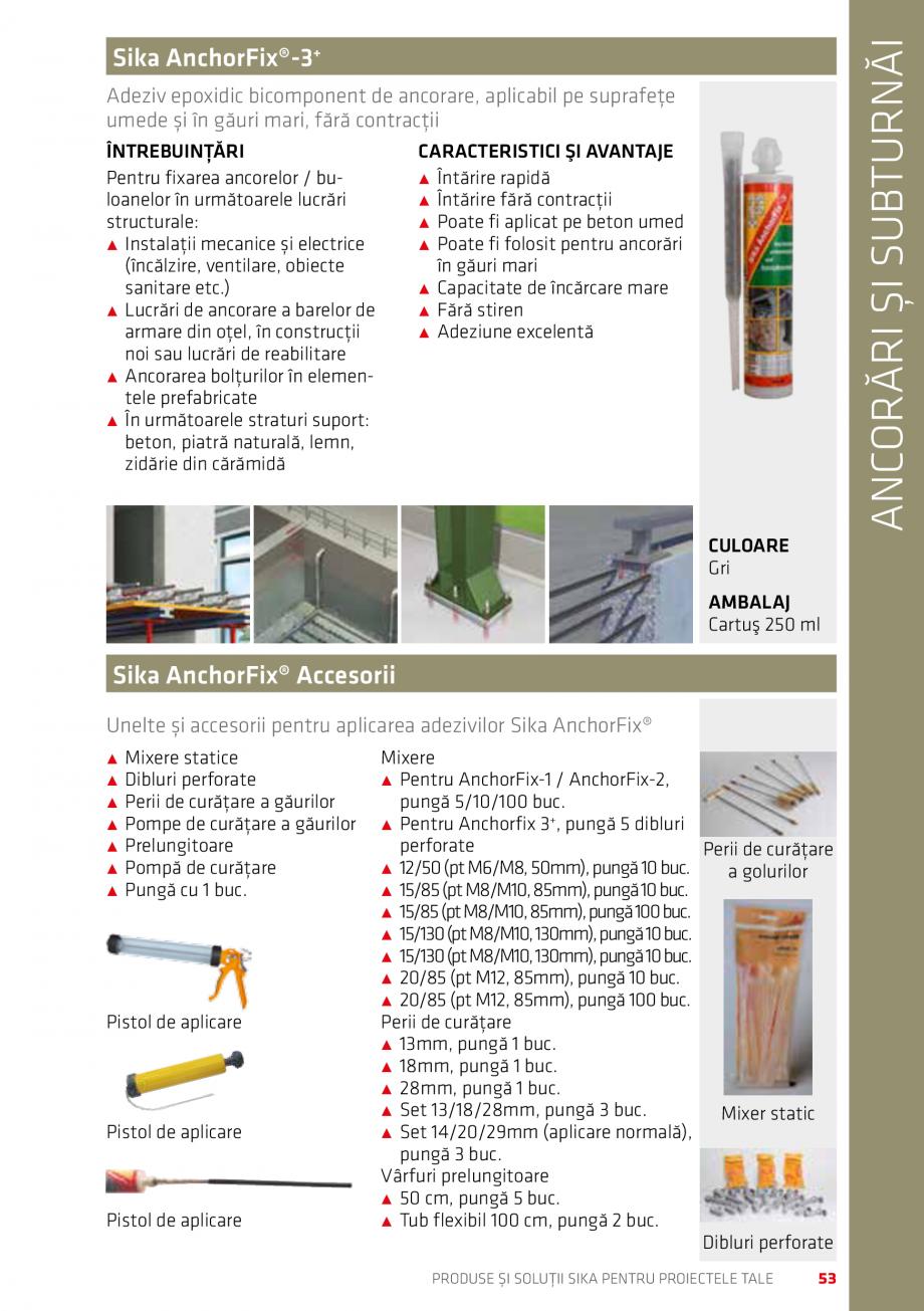 Pagina 53 - Produse si solutii Sika pentru proiectele tale  Catalog, brosura Romana �˹ Se...