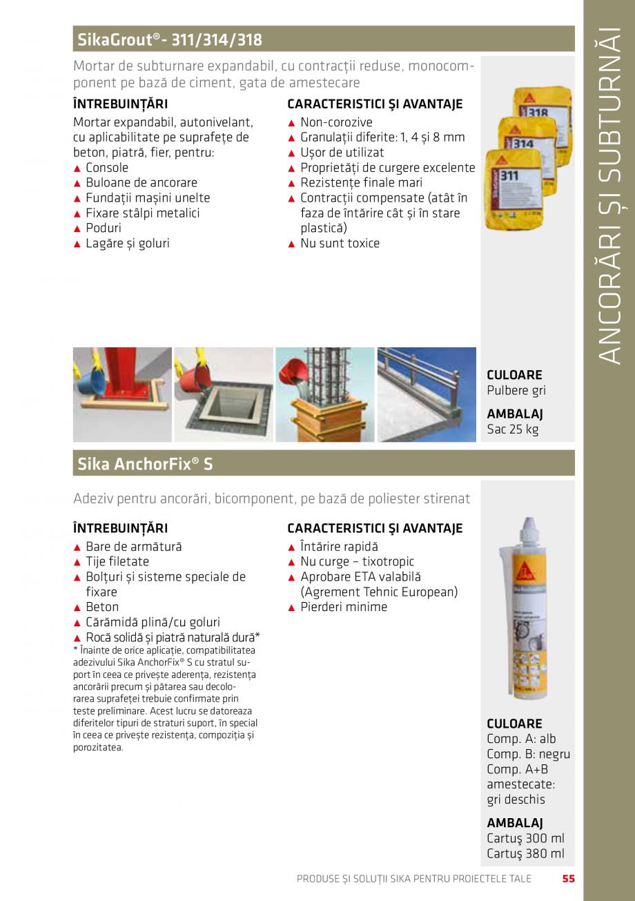 Pagina 55 - Produse si solutii Sika pentru proiectele tale  Catalog, brosura Romana căzută ce se...