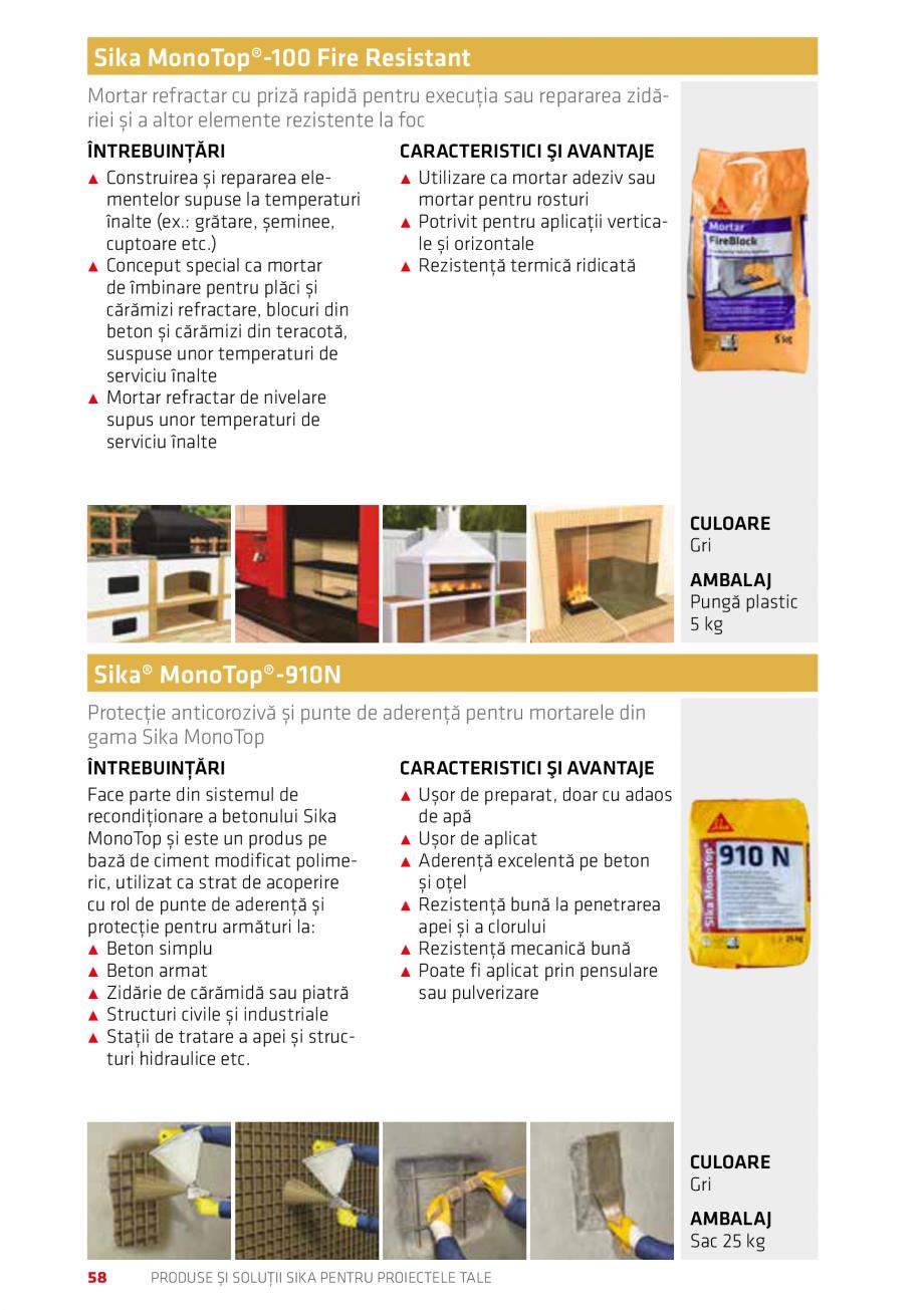 Pagina 58 - Produse si solutii Sika pentru proiectele tale  Catalog, brosura Romana BT Bandă...