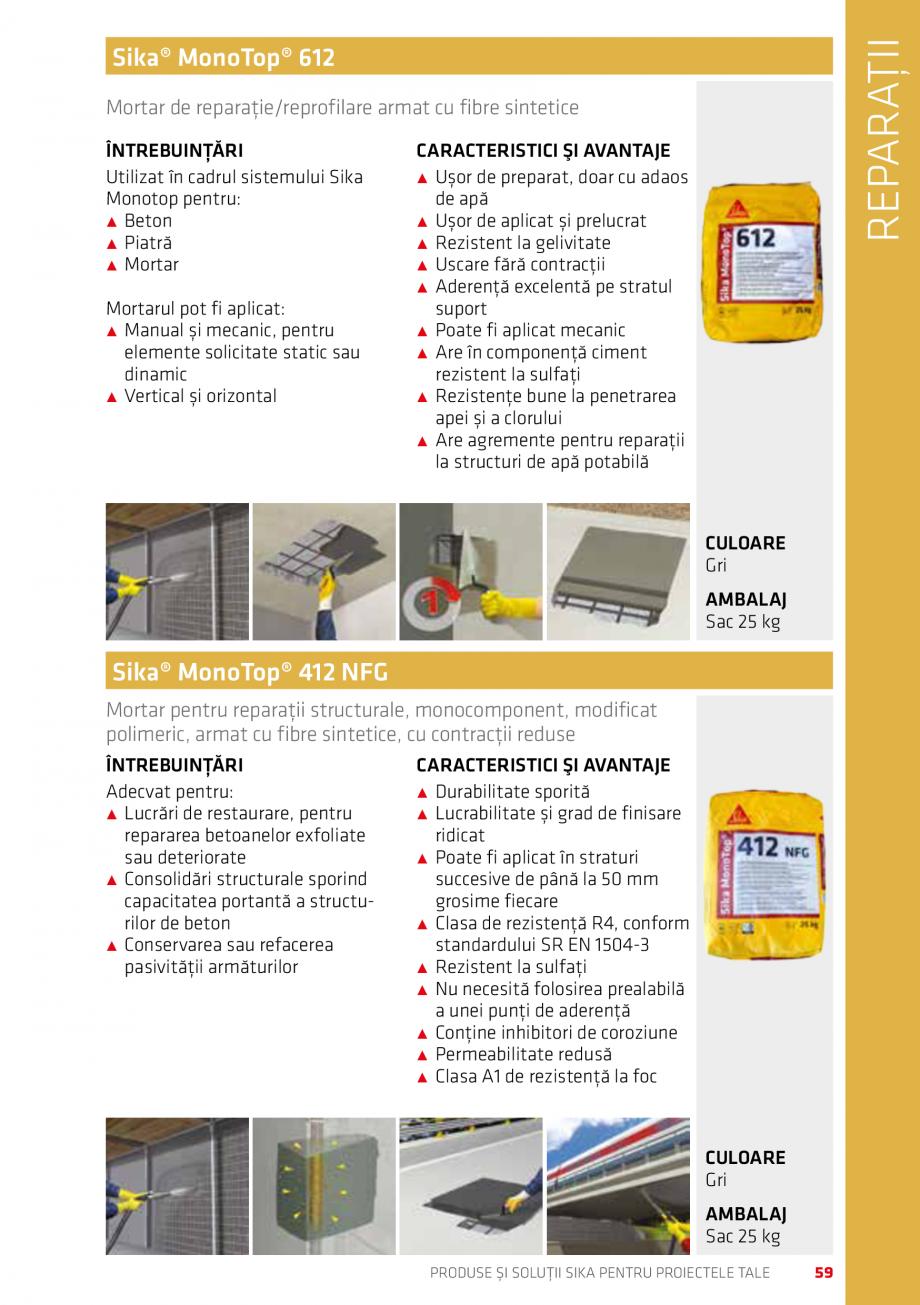 Pagina 59 - Produse si solutii Sika pentru proiectele tale  Catalog, brosura Romana ză de...
