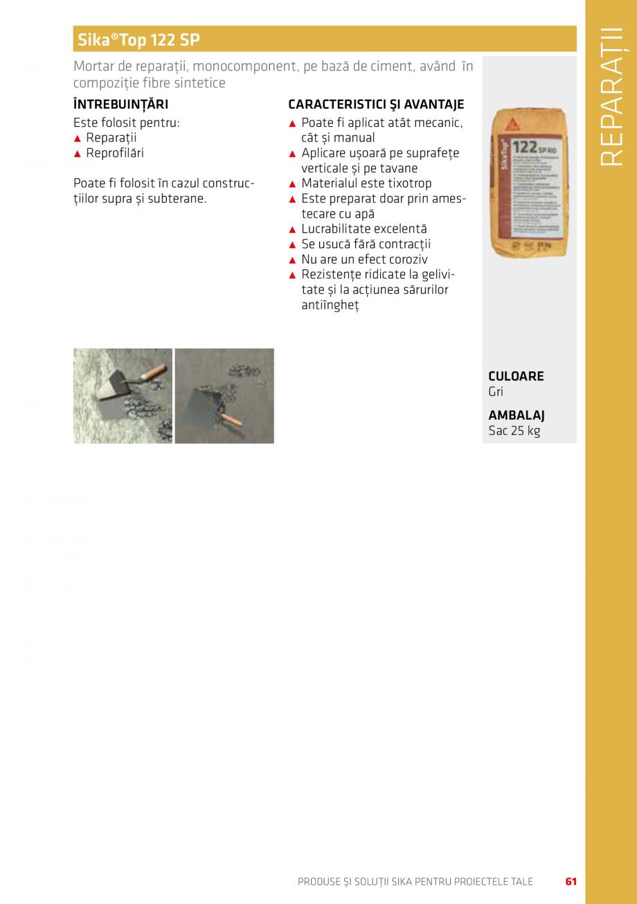 Pagina 61 - Produse si solutii Sika pentru proiectele tale  Catalog, brosura Romana ilor de...