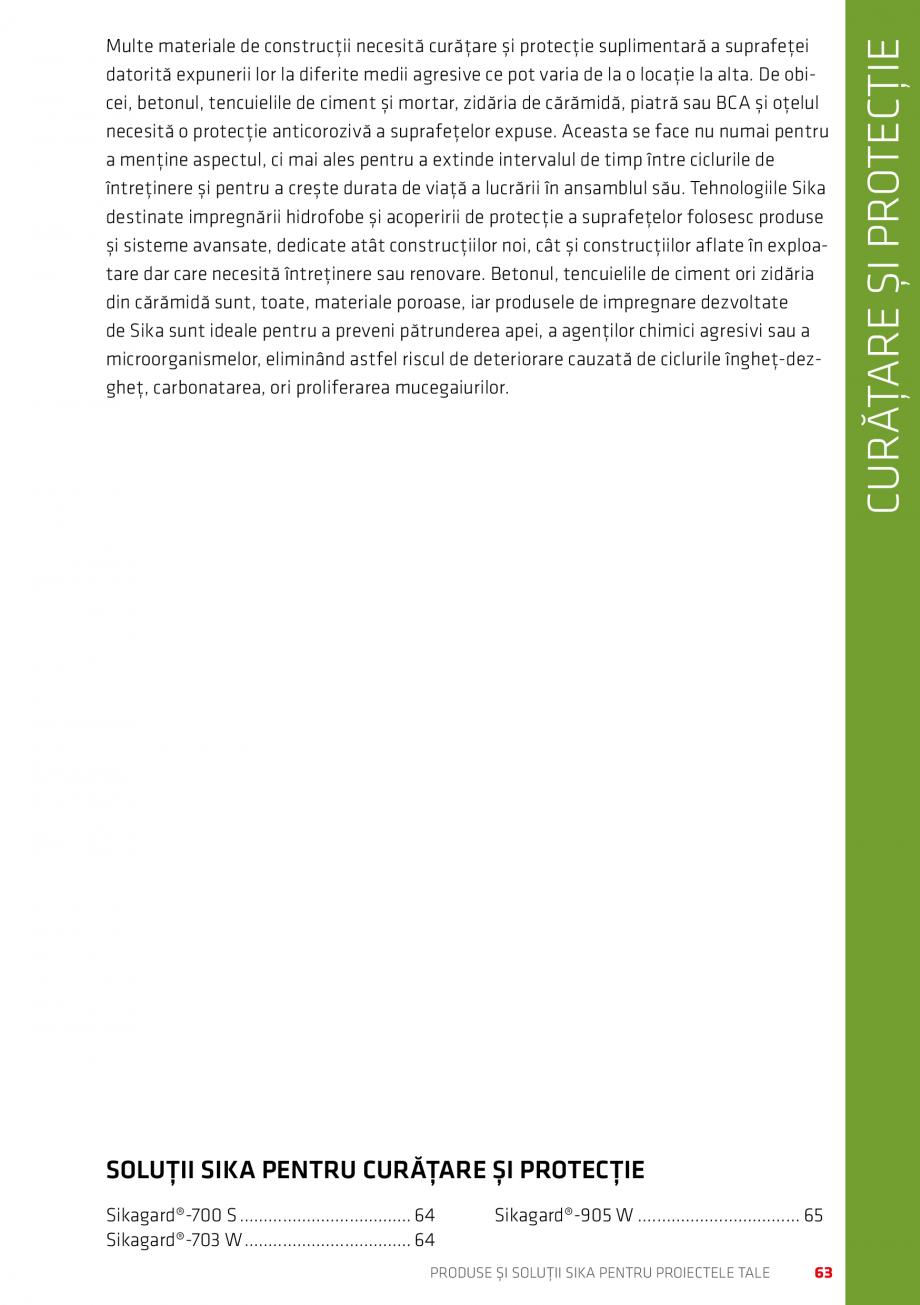 Pagina 63 - Produse si solutii Sika pentru proiectele tale  Catalog, brosura Romana � mare ˹˹...