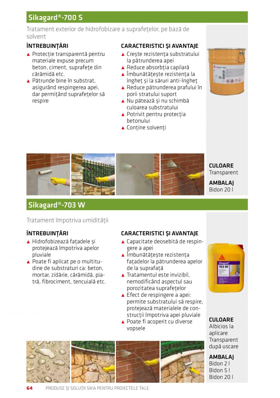 Pagina 64 - Produse si solutii Sika pentru proiectele tale  Catalog, brosura Romana  750 ml ...