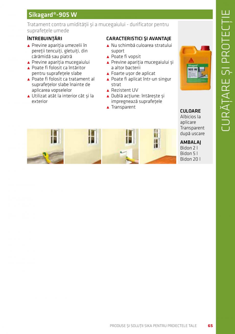 Pagina 65 - Produse si solutii Sika pentru proiectele tale  Catalog, brosura Romana  acoperișuri,...