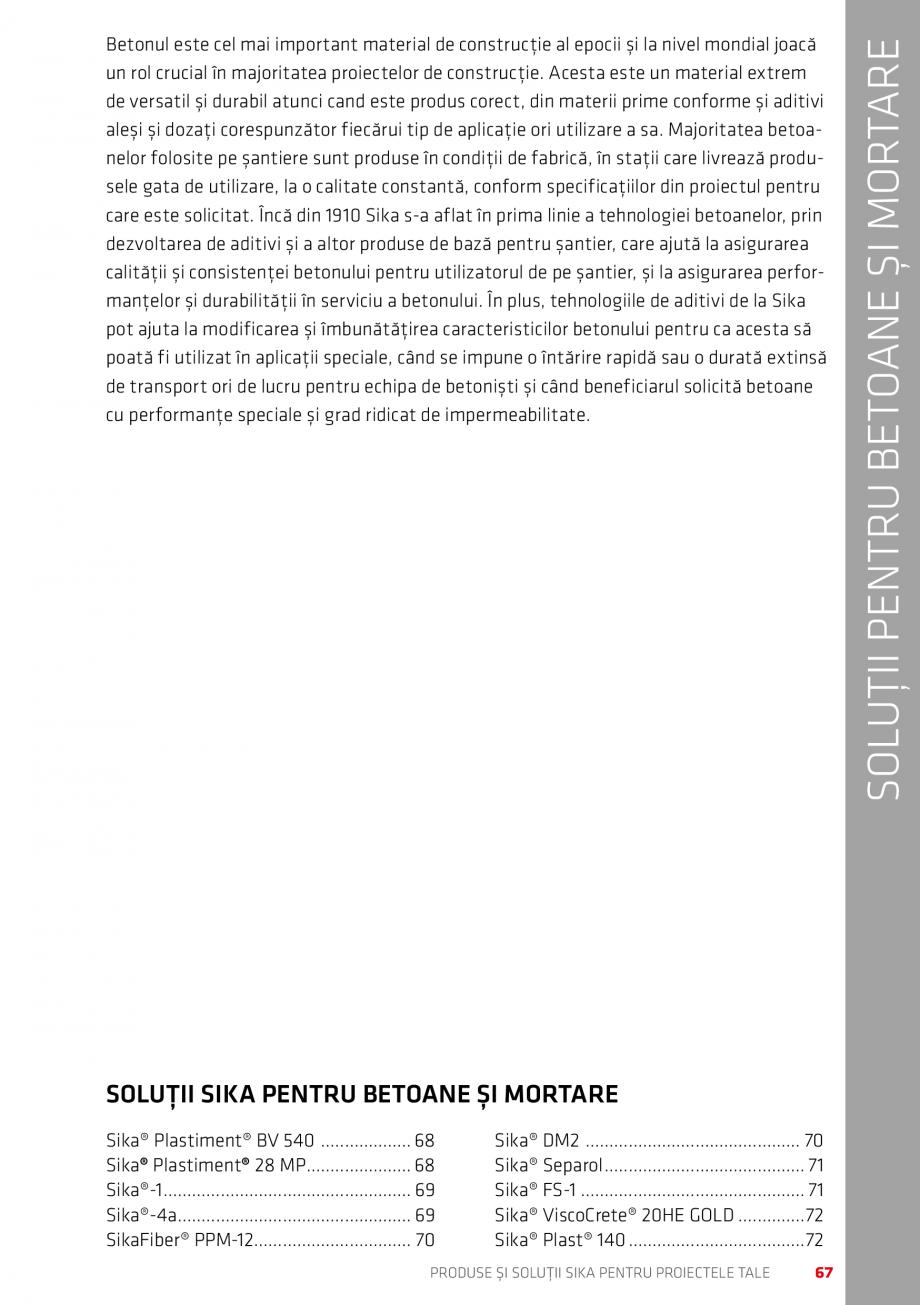 Pagina 67 - Produse si solutii Sika pentru proiectele tale  Catalog, brosura Romana ren pentru tavan...