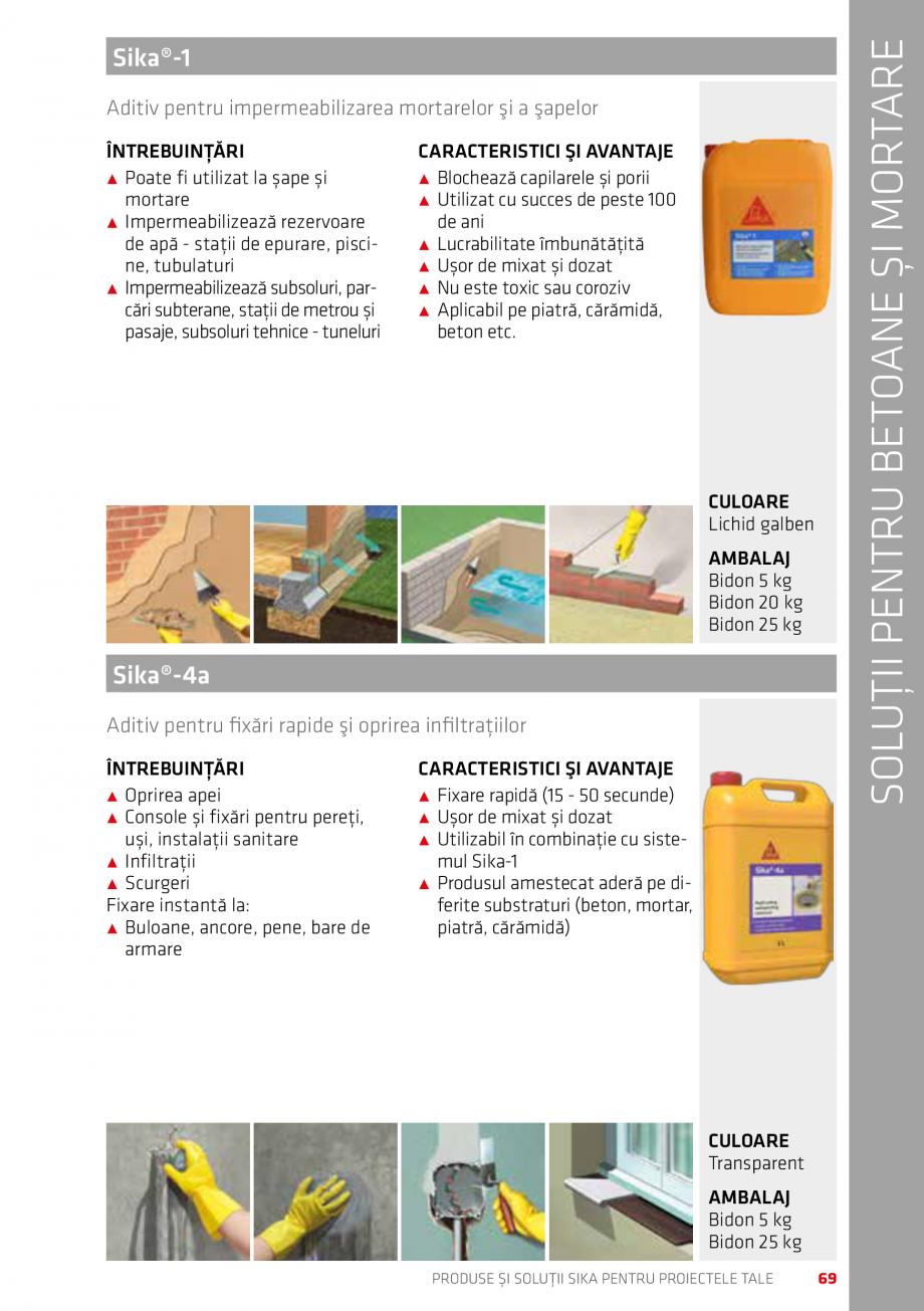 Pagina 69 - Produse si solutii Sika pentru proiectele tale  Catalog, brosura Romana ERISTICI ŞI...