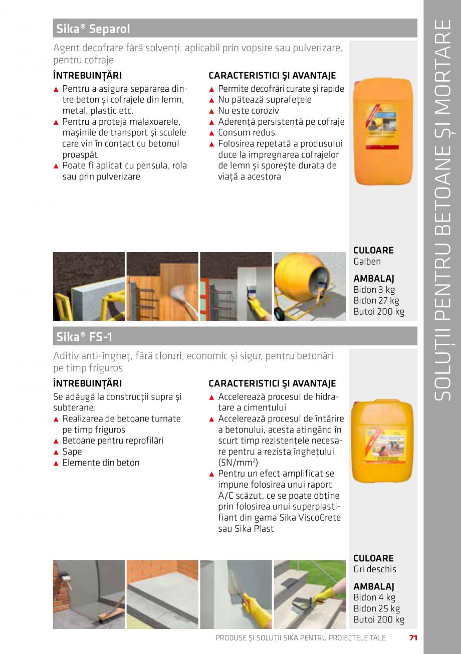 Pagina 71 - Produse si solutii Sika pentru proiectele tale  Catalog, brosura Romana lzire în...