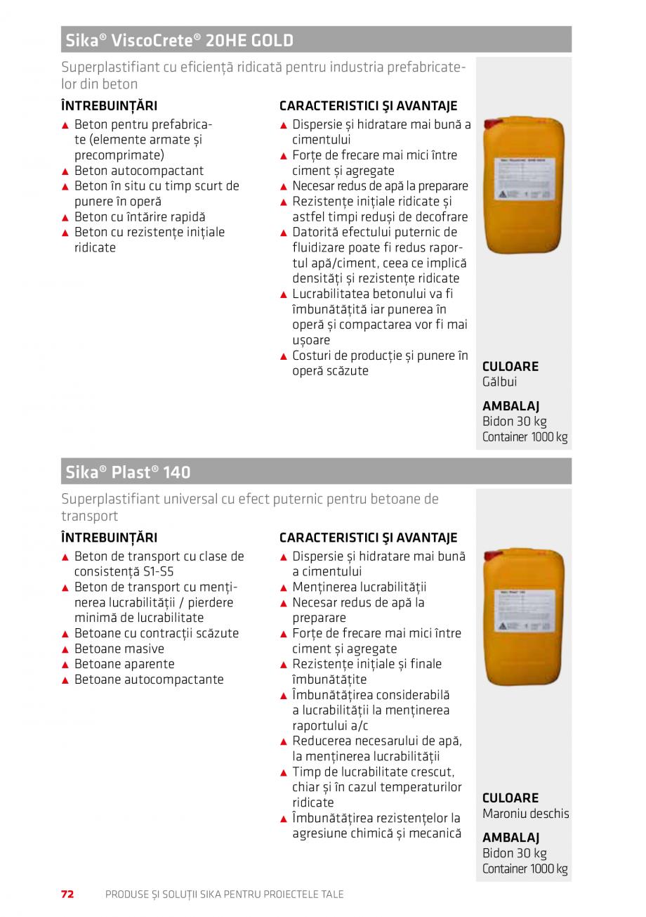 Pagina 72 - Produse si solutii Sika pentru proiectele tale  Catalog, brosura Romana rect pe plăci...
