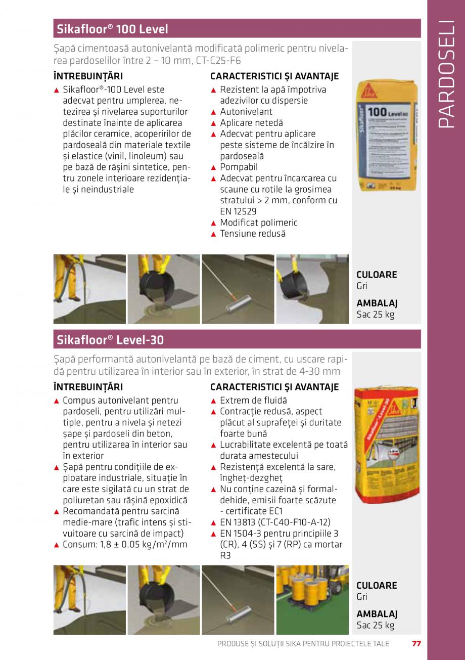 Pagina 77 - Produse si solutii Sika pentru proiectele tale  Catalog, brosura Romana ...................